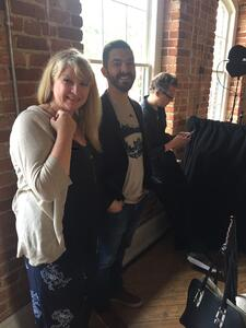 Stacie Staub and Zach Schabot backstage at the Genuine Hustle Event in Raleigh